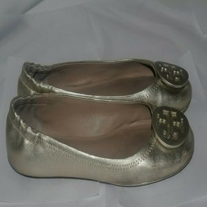 Tory Burch Mini Reva Metallic sz 6.5